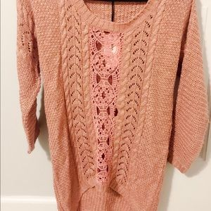 Pink Rose sweater size small